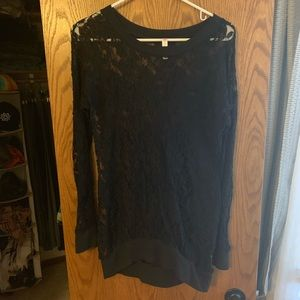 Tops - BOGO FREE - Sheer lace long sleeve top